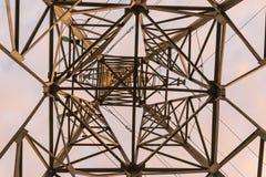 Linea elettrica del metallo Immagini Stock