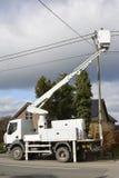 Linea elettrica della riparazione Immagine Stock