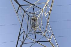 Linea elettrica di elettricità immagini stock