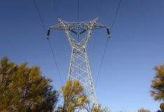 Linea elettrica di elettricità fotografie stock
