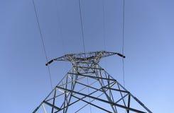Linea elettrica di elettricità fotografia stock
