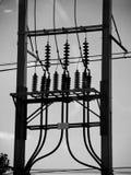 Linea elettrica elettrica della posta Immagini Stock Libere da Diritti