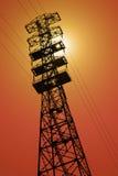 Linea elettrica estremamente alta pilone Immagini Stock