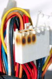 Linea elettrica nociva incavo Fotografia Stock Libera da Diritti