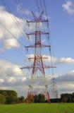 Linea elettrica piloni Immagini Stock Libere da Diritti