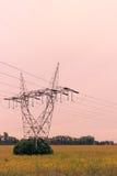Linea elettrica torretta Fotografie Stock Libere da Diritti