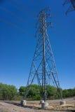 Linea elettrica torretta Fotografia Stock