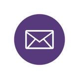 Linea email dell'icona Immagine Stock