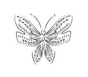Linea farfalla di arte illustrazione di stock