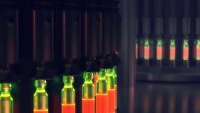 Linea farmaceutica di fabbricazione alla fabbrica della farmacia archivi video