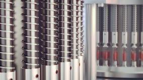 Linea farmaceutica di fabbricazione alla fabbrica della farmacia royalty illustrazione gratis