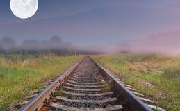 Linea ferroviaria Immagini Stock