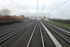 Linea ferroviaria Fotografie Stock