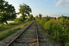 Linea ferroviaria Immagini Stock Libere da Diritti