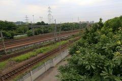 Linea ferroviaria, adobe rgb Immagine Stock Libera da Diritti