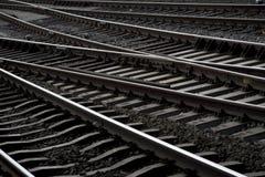 Linea ferroviaria dalla stazione centrale Amsterdam Immagini Stock