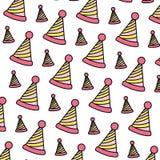 Linea fondo del cappello del partito di colore della decorazione illustrazione vettoriale