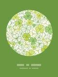 Linea fondo del trifoglio del modello della decorazione del cerchio di arte illustrazione vettoriale