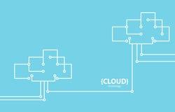 Linea fondo della nuvola di tecnologia di stile illustrazione vettoriale
