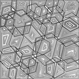Linea fondo geometrico Fotografia Stock