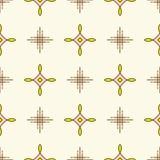 Linea fondo minimo di progettazione del tessuto dell'ornamento geometrico senza cuciture del modello illustrazione vettoriale