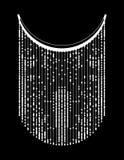 Linea geometrica etnica ricamo del collo Vettore, illustrazione immagine stock libera da diritti