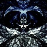Linea geometrica immagine di arte Due colombe bacianti Elemento di progettazione colorato bianco blu nero Bello fondo Concetto de Fotografie Stock