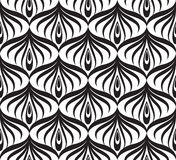 Linea geometrica t di orienal floreale senza cuciture del modello di Abstact Fotografie Stock