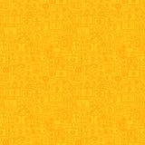 Linea gialla modello senza cuciture di Bitcoin Immagine Stock