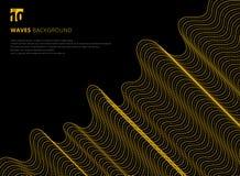Linea gialla moderna futuristi dell'estratto 3D di progettazione del modello del modello illustrazione vettoriale