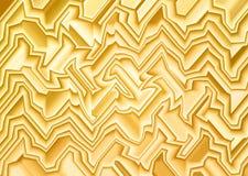 Linea grafica gialla astratta forma di onda per fondo Immagine Stock