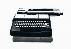 Linea grafici della macchina da scrivere Immagini Stock Libere da Diritti