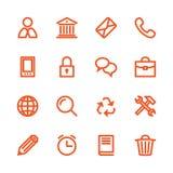Linea grassa icone Fotografia Stock