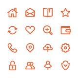 Linea grassa icone Fotografie Stock Libere da Diritti