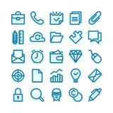 Linea grassa icone Fotografie Stock