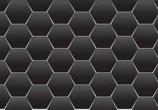 Linea grigio scuro astratta illustrazione futuristica moderna dell'argento di esagono di vettore di struttura del fondo di proget illustrazione vettoriale