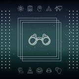 Linea icona del binocolo Immagine Stock