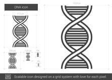 Linea icona del DNA royalty illustrazione gratis