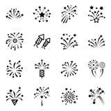 Linea icona del fuoco d'artificio Fotografia Stock Libera da Diritti
