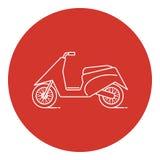 Linea icona del motorino di moto di stile di arte Immagine Stock Libera da Diritti