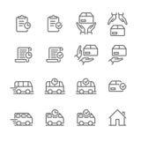 Linea icona del negozio di web di logistica di vettore di consegna di ordine illustrazione di stock