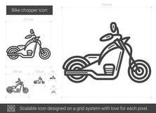 Linea icona del selettore rotante della bici Fotografie Stock