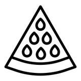 Linea icona dell'anguria Illustrazione di vettore del lobo dell'anguria isolata su bianco Progettazione di stile del profilo dell illustrazione vettoriale