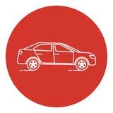 Linea icona dell'automobile di stile di arte Fotografia Stock