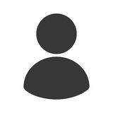 linea icona dell'avatar dell'uomo d'affari fotografia stock libera da diritti