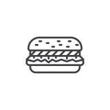 Linea icona dell'hamburger illustrazione di stock