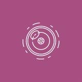Linea icona dell'obiettivo per infographic, il sito Web o il app Immagine Stock Libera da Diritti