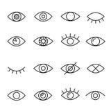 Linea icona dell'occhio illustrazione vettoriale