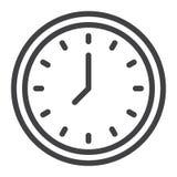 Linea icona dell'orologio illustrazione di stock