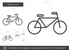 Linea icona della bicicletta Fotografia Stock Libera da Diritti